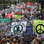 antiwar demo london 2009 image