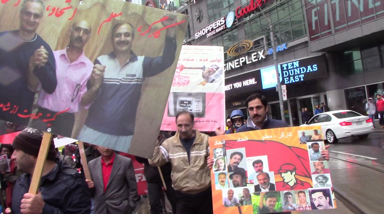 فیلم ها و عکسهای از از برگزاری راه پیمایی روز جهانی کارگر ۱۳۹۵ در تورنتو که از ملل مختلف در ان شرکت