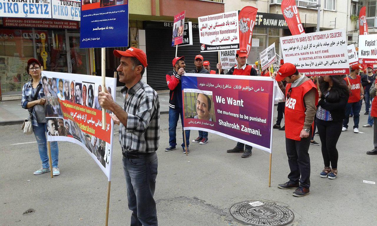 عکسهای از مراسم راه پیمایی اول ماه مه در ترکیه